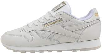 d8bf02abf45c Reebok Classics Womens Leather GM Trainers Chalk Lucid Lilac Gold Metallic
