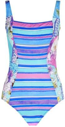 Gottex Floral Stripe Swimsuit