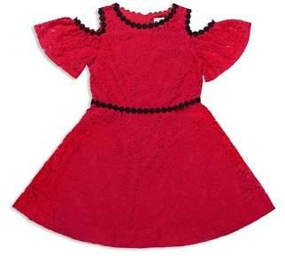 Kate Spade Girls' Cold-Shoulder Lace Dress - Big Kid