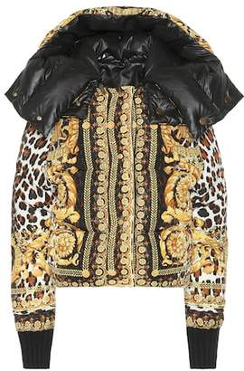 Versace Reversible printed down jacket