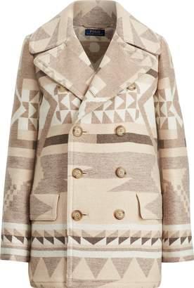 Ralph Lauren Geometric Wool Peacoat