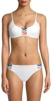 Red Carter Strappy Bikini Top