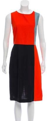 Diane von Furstenberg Sleeveless Color-Block Dress