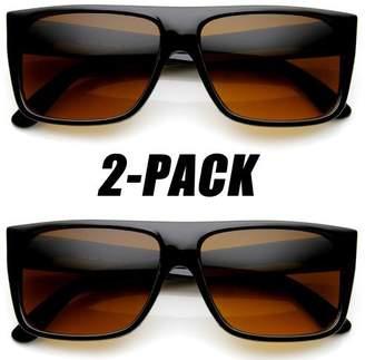 Zerouv Blue Blocking Driving Lens Classic Rectangular Locs Sunglasses