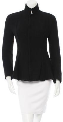 Yohji Yamamoto Woven Wool Flare Jacket w/ Tags $275 thestylecure.com