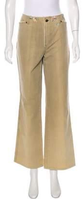 Gerard Darel Embroidered Wide-Leg Pants