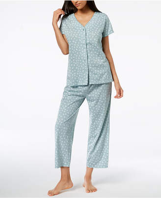 Charter Club Cotton Printed Pajama Set, Created for Macy's