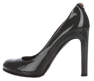 Gucci Patent Leather Round-Toe Pumps