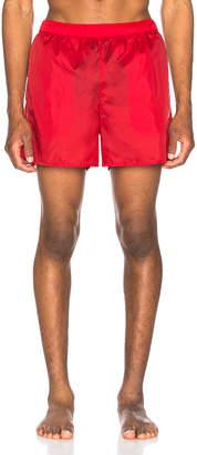 Acne Studios Warrick Nylon Swim Shorts in Cardinal Red | FWRD