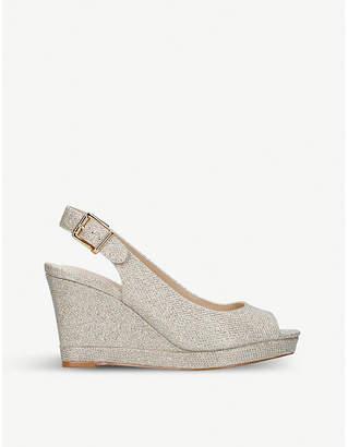 Nine West Dionne glitter wedge sandals