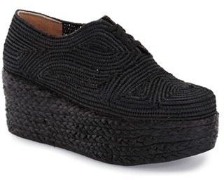Robert Clergerie 'Pinto' Woven Platform Oxford (Women) $550 thestylecure.com