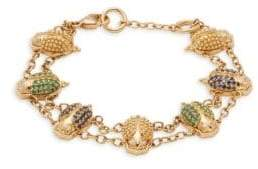 Temple St. Clair Diamond, Crystal and 18K Yellow Gold Bracelet
