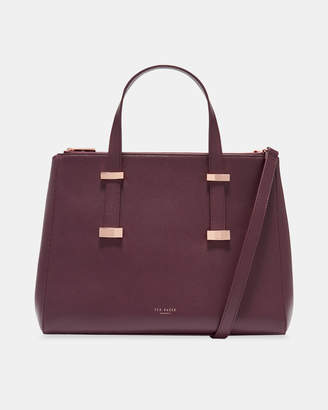 Ted Baker ALEXIIS Faceted bow leather tote bag