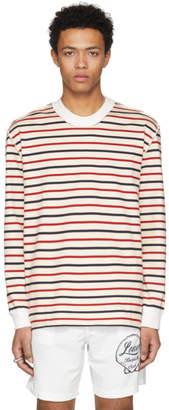 Maison Margiela Off-White Striped Contrast Collar T-Shirt