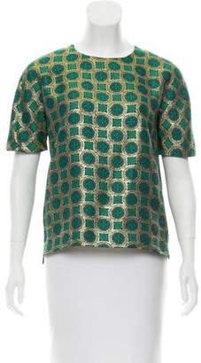Kenzo Jacquard Short Sleeve Top