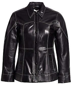 Ganni Women's Lamb Leather Jacket