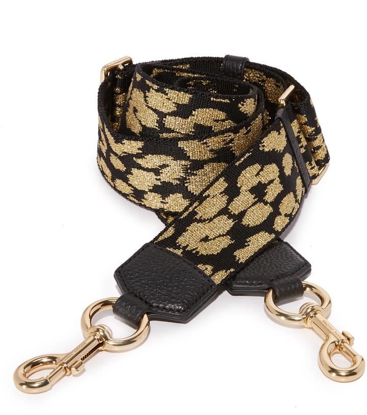 Marc JacobsMarc Jacobs Webbed Leopard Handbag Guitar Strap