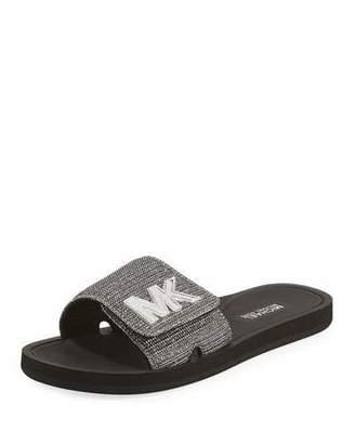 MICHAEL Michael Kors MK Glitter Chain Slide Sandal