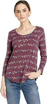 Lucky Brand Women's Scoop Neck Placed Floral TEE
