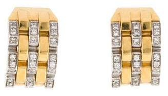 Chimento 18K Diamond Link Earclips