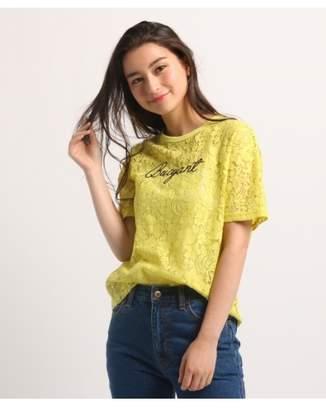 aquagirl (アクアガール) - エージー バイ アクアガール [洗える]レースロゴ Tシャツ