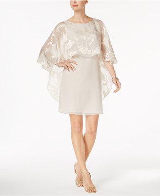 Jessica Howard Floral-Burnout Capelet Dress $109 thestylecure.com