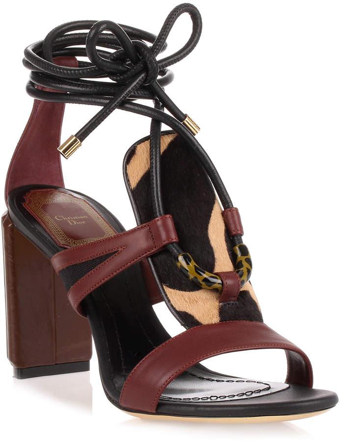 Dior Tribe 80 leather sandal