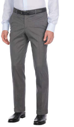 Isaia Comfort Wool-Blend Dress Pants