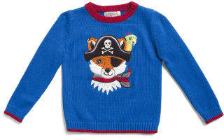 Toddler Boys Pirate Fox Pullover Sweater