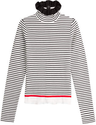 MSGM Striped Cotton Turtleneck Pullover
