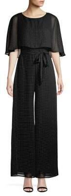 Gabby Skye Short Sleeve Popover Jumpsuit