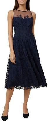 Hobbs London Felicity Embroidered Midi Dress