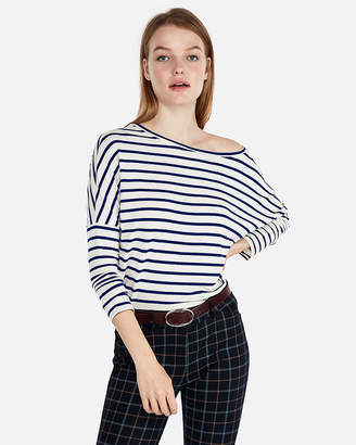 Express One Eleven Off The Shoulder Relaxed London Tee