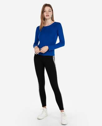Express Fitted Jersey Bateau Neck Sweater