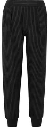 ATM Anthony Thomas Melillo Pinstriped Crepe Track Pants - Black