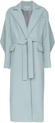 Matériel long belted coat