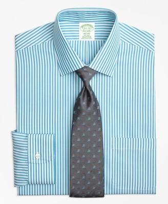 Brooks Brothers Milano Slim-Fit Dress Shirt, Non-Iron Tonal Bengal Stripe
