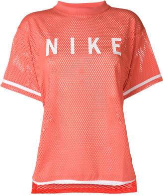 Nike striped short sleeve mesh T-shirt