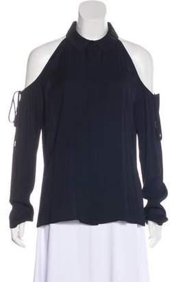 Cushnie et Ochs Cold-Shoulder Button-Up Top