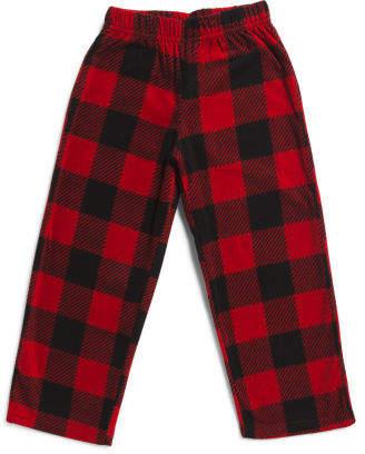 Boys Buffalo Plaid Microfleece Pants