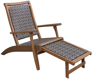 One Kings Lane Wicker & Eucalyptus Chaise - Caramel