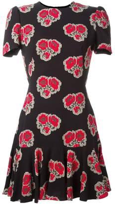 Alexander McQueen poppy print ruffle dress