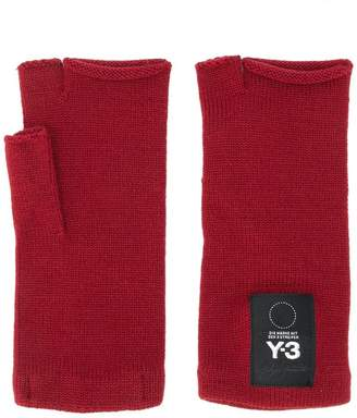 Y-3 fingerless knit mittens