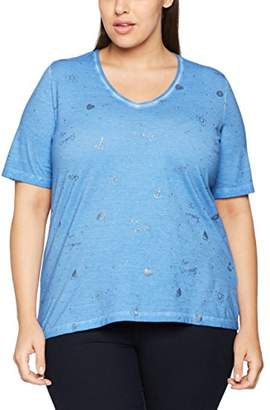 Via Appia Women's V-Ausschnitt 1/2 Arm Motiv T-Shirt