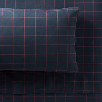 Pottery Barn Teen Boxter Plaid Sheet Sets, Twin/Twin XL, Navy/Red