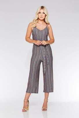 3c4dfa8ff5 Quiz Pink And Blue Glitter Stripe Culotte Jumpsuit