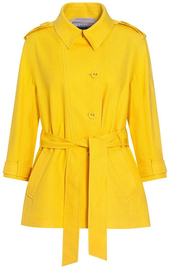 Jaeger London Belted Summer Coat, Dandelion