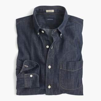 J.Crew Untucked lightweight denim shirt in dark wash