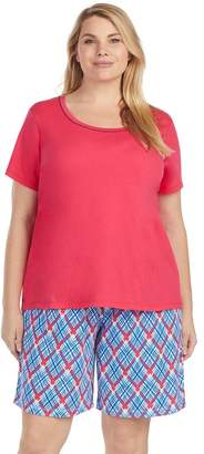 Jockey Plus Size Pajamas: Short Sleeve Tee & Bermuda Shorts 2-Piece PJ Set