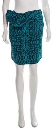 Lanvin Bow-Accented Knee-Length Skirt w/ Tags Blue Bow-Accented Knee-Length Skirt w/ Tags